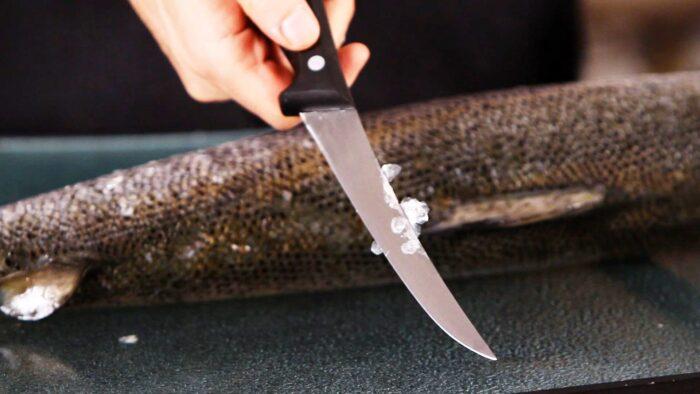 Чистить щуку ножом