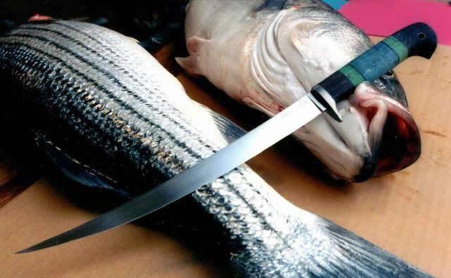 Филейный нож для разделки рыбы