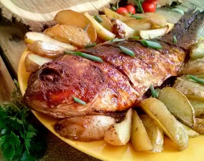 Рыба сазан в духовке