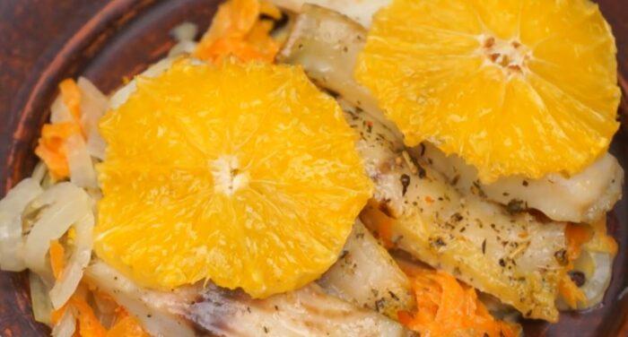 палтус с апельсином