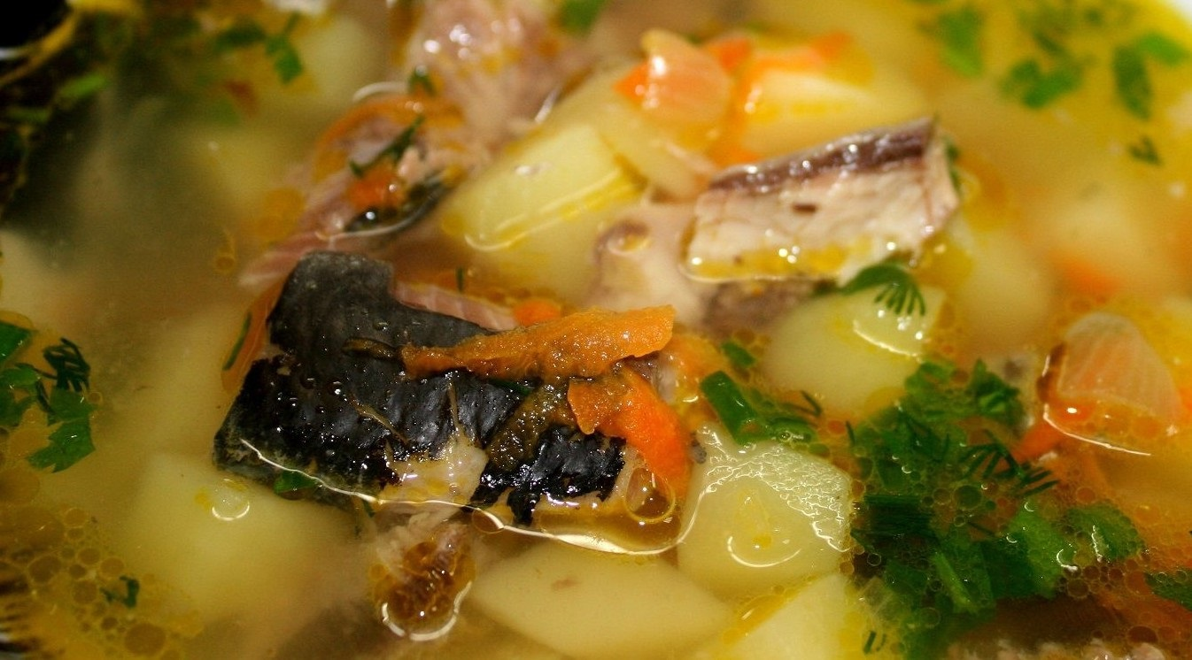 Суп из консервы сардины